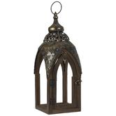 Vintage Gold Wood Lantern
