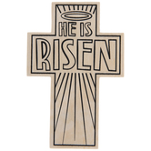 He Is Risen Coloring Wood Crosses