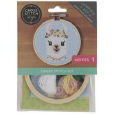 Llama With Flower Crown Cross Stitch Kit