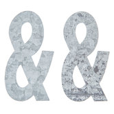 Galvanized Metal Symbol Ampersand - 4""
