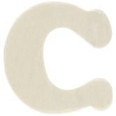 "Wood Letters C - 1 3/4"""