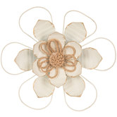 White Textured Flower Metal Wall Decor