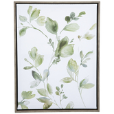 Green Leaves Canvas Wall Decor