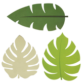 Green & Gold Tropical Leaves Cutouts