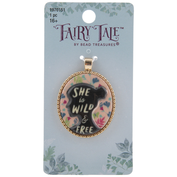 She Is Wild & Free Cameo Pendant