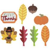 Give Thanks Fall Glitter Foam Stickers
