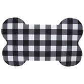 Black & White Buffalo Check Dog Bone Mat