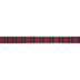 Red, Black & Gold Plaid Wired Edge Ribbon - 1 1/2
