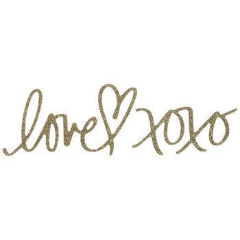 Glitter Love XOXO Stickers