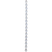 Clear AB Pear Glass Bead Strand - 8mm x 11mm