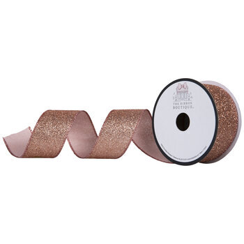 "Copper Glitter Merrowed Edge Ribbon - 1 1/2"""