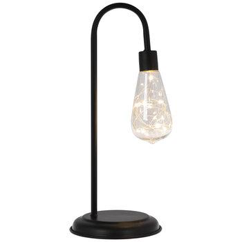 Black Fairy Lightbulb Metal Desk Lamp