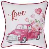 Love Truck Pillow Cover
