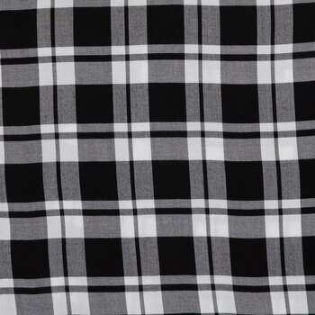 Black & White Plaid Apparel Fabric