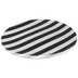 Black & White Striped Plate Charger