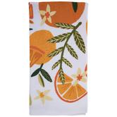 Floral Orange Kitchen Towel