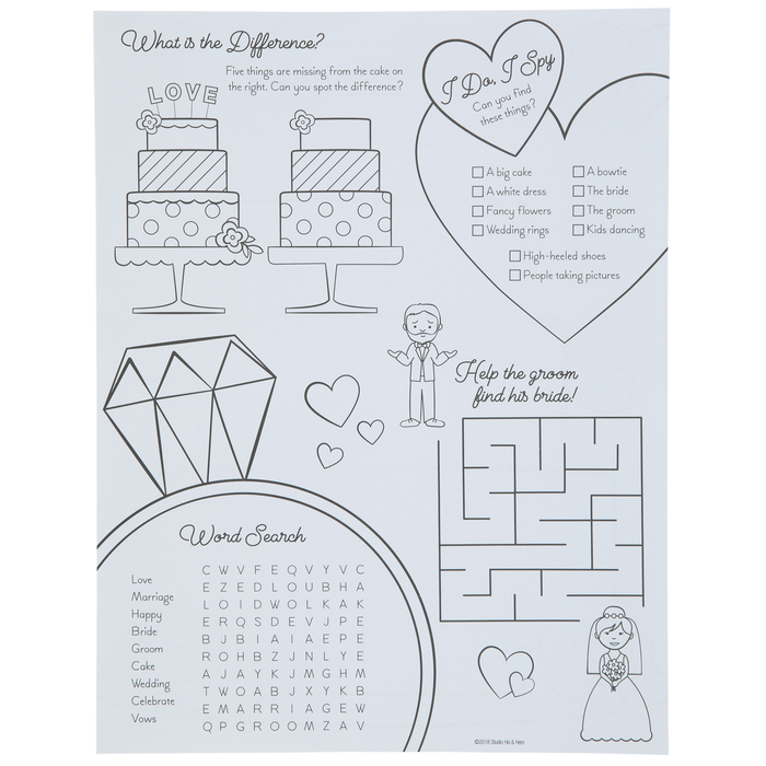 Wedding Coloring Sheets Hobby Lobby 1735281