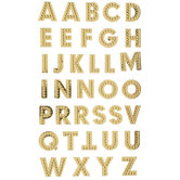 Gold Dots Alphabet Stickers