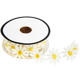 """White & Yellow Daisy Trim - 7/8"""""""