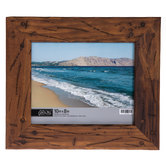 """Distressed & Nailed Wood Wall Frame - 10"""" x 8"""""""