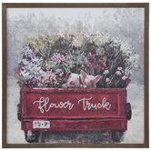 Flower Truck Pigs Wood Wall Decor