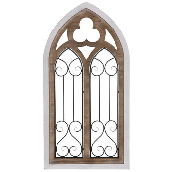 White Cathedral Arch Wood Wall Decor