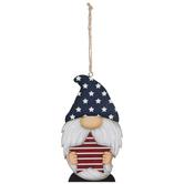 Blue Star Hat Gnome Ornament