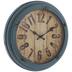 Antique Blue Distressed Metal Wall Clock