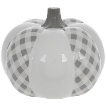 Gray Buffalo Check Pumpkin