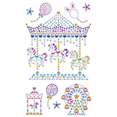 Amusement Park Rhinestone Stickers