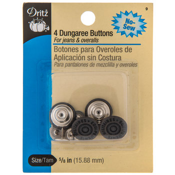 Copper Dungaree Buttons - 5/8""