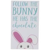Follow The Bunny Wood Wall Decor