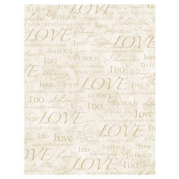 """Wedding Words Scrapbook Paper - 8 1/2"""" x 11"""""""