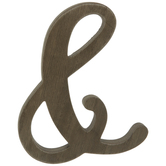 Brown Ampersand Wood Decor