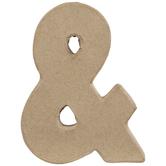 """Paper Mache Ampersand - 4"""""""