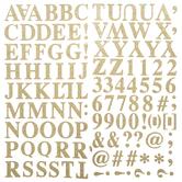 Gold Glitter Formal Alphabet Stickers