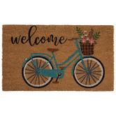 Welcome Floral Bike Doormat