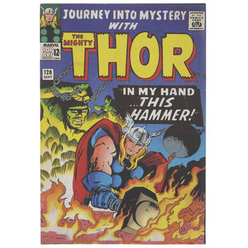 Thor Comic Book Wood Wall Decor