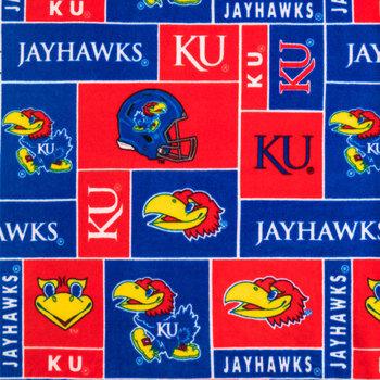 Kansas Block Collegiate Fleece Fabric