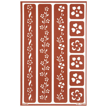 Floral Borders Glass Etching Stencils
