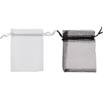 Black & White Organza Bags