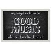Good Music Wood Wall Decor