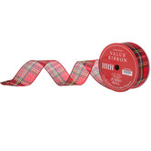 Traditional Plaid Wired Edge Jumbo Ribbon - 2 1/2""
