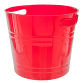 Red Container With Cutout Handles