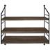Brown Three-Tiered Wood Wall Shelf