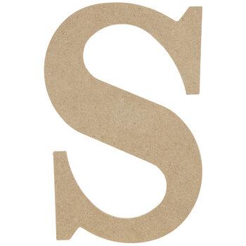 "Wood Letter S - 9 1/2"""