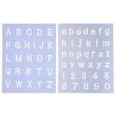 Dot Alphabet & Number Stencil