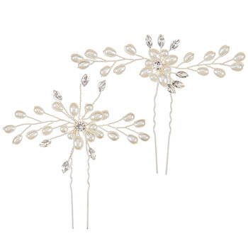 Pearl Flower Hair Pins