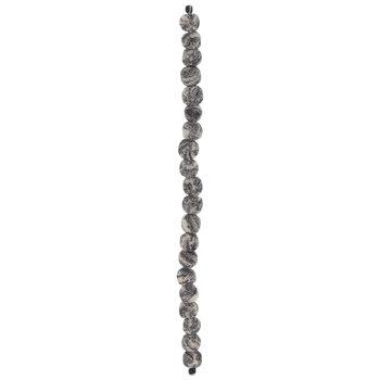 Gray Dyed Lava Stone Bead Strand