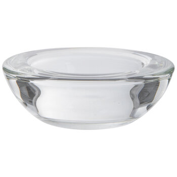 Short Round Glass Candle Holders